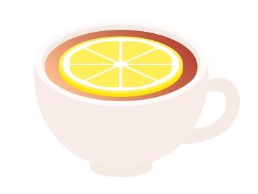 白いカップに入ったレモンティー