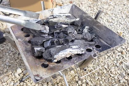 炭火 バーベキューグリル 火無し あおりトング 3358