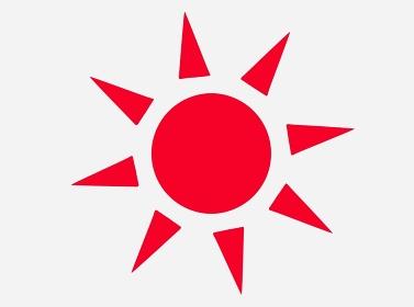 赤いシンプルな太陽