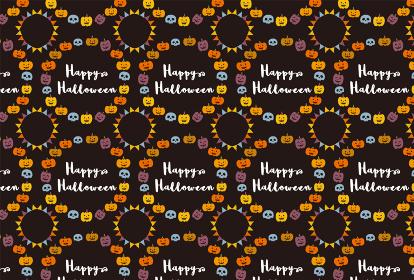 ハロウィンのパターン背景