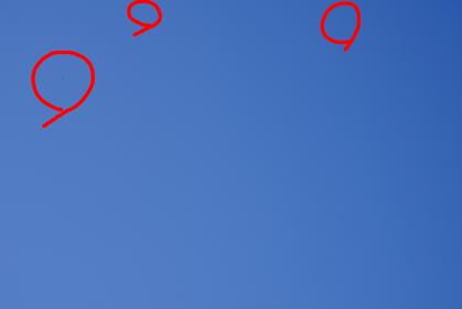 レンズ交換式カメラの厄介なセンサーの汚れ【赤丸箇所】