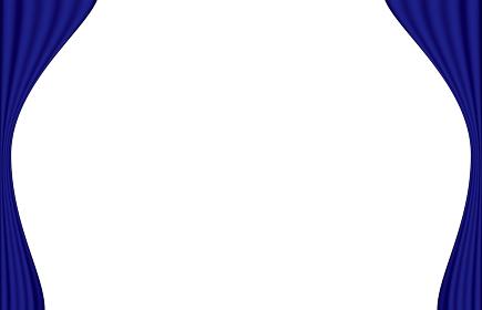 舞台袖の青いカーテン