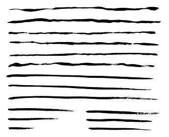 筆による線のセット