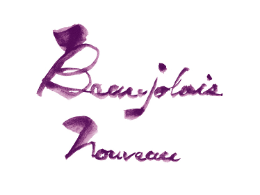 文字, 秋, 葡萄, BeaujolaisNouveau, Beaujolais nouveau,