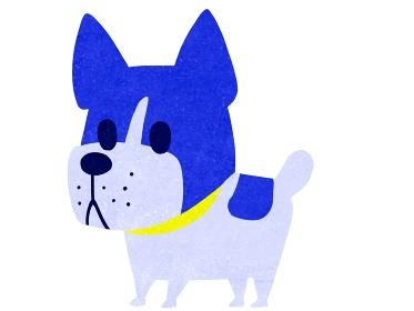 カートゥーンタッチのフレンチブルドック犬のイラスト