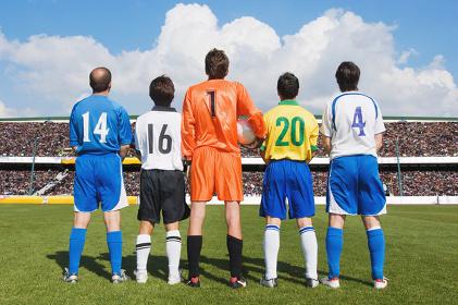 色んな種類のサッカーユニフォーム