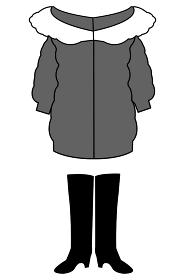 女の子のファッション 秋冬