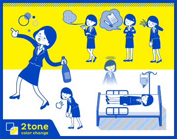 2tone type suit business women_set 10