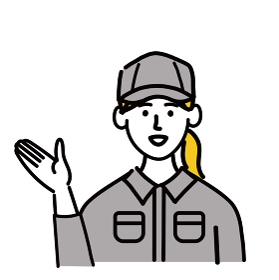 作業服 女性 若い 提案 ポップ 手描き