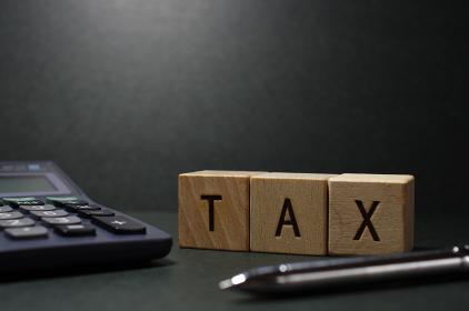 税金をイメージしたグラフィック素材