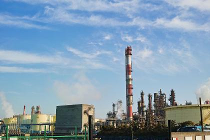 川崎の工業地帯の風景