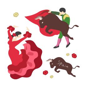 闘牛士とフラメンコ(スペインのイメージ)