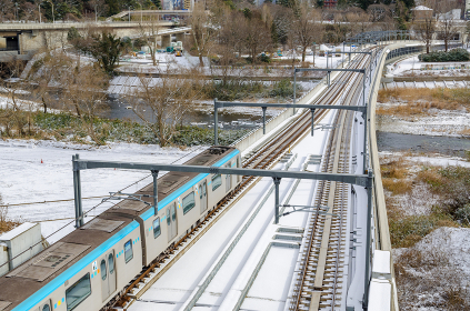 雪と仙台市地下鉄