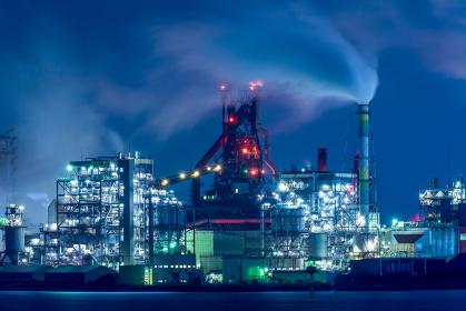 北九州工業地帯の工場夜景