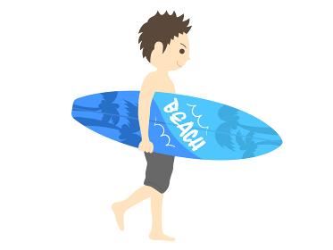 サーファーのイラスト