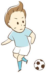 サッカーをする少年 ドリブル