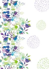 北欧風の水彩風背景素材 植物 花 ガーリー