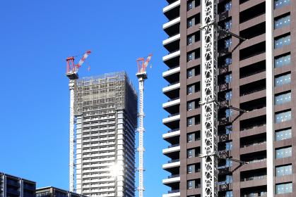 マンション・ビルの建設現場