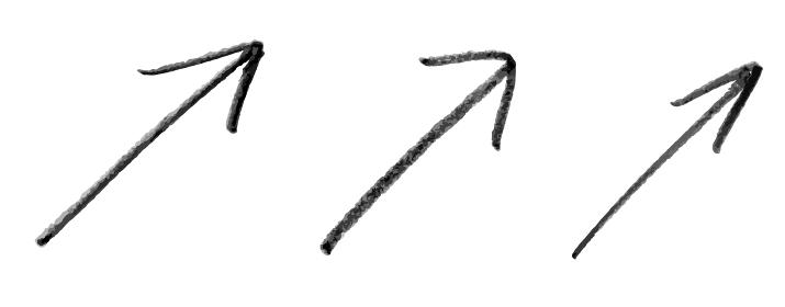 手描きの矢印 バリエーションセット