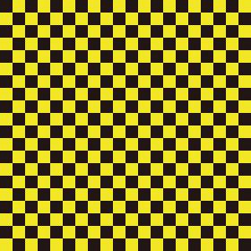 市松模様 黒×黄色 S