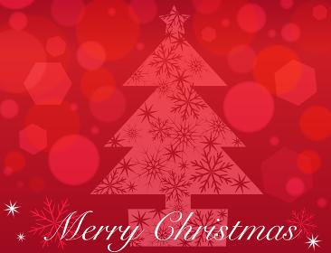 クリスマスの背景 赤