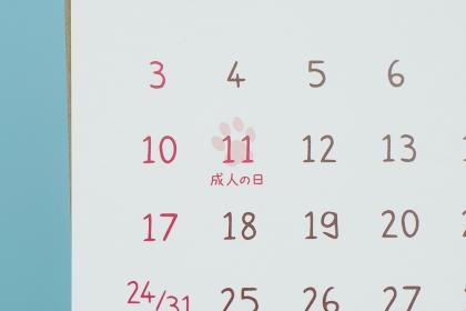 カレンダー イベント成人の日