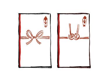 手描きイラスト素材 水引き 水引 みずひき 祝儀袋 ご祝儀 お祝い お祝い袋