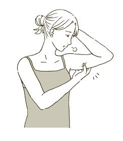ビューティー 二の腕ダイエットの必要がある女性のイラストレーション