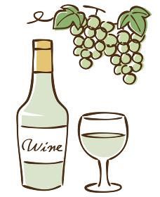 白ワイン 挿絵