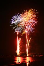 長野県の諏訪湖の花火大会