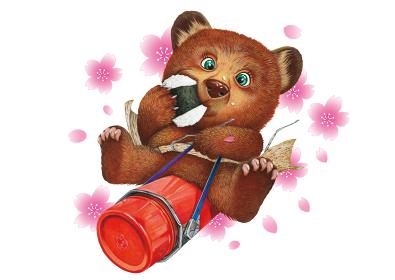 桜と小熊の遠足