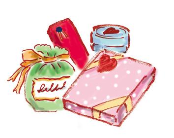 手描きイラスト素材 イラスト素材、バレンタインデー、プレゼント、バレンタイン、チョコレート、贈り物