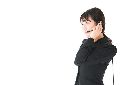 若い女性オペレーター・同時通訳イメージ