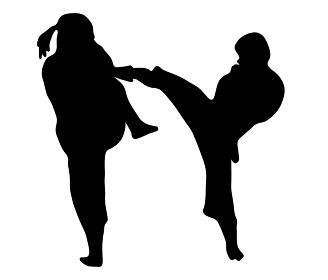 かっこいい少林寺拳法のシルエット