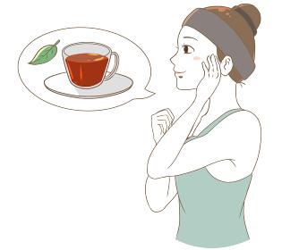 美容のためにお茶を取り入れる 白色