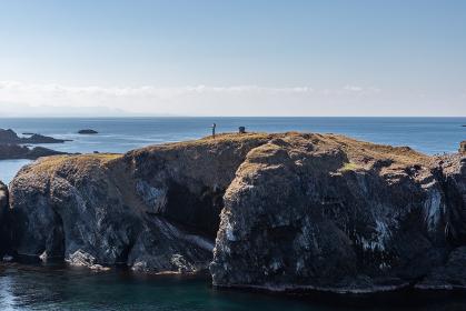 日御碕鳥見台から見た経島の風景 島根県出雲市