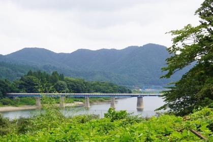 大倉ダムにかかる青い橋