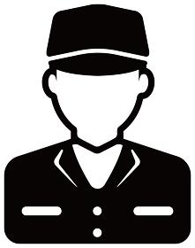 労働者アイコンイラスト / 配達員・作業員・工場作業者
