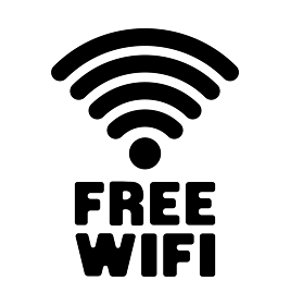 フリーワイファイ ( Free Wifi / Wi-Fi ) アイコン