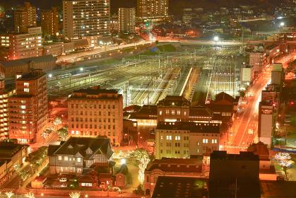 門司港レトロ展望室から眺める門司港レトロの夜景