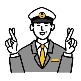 男性 若い バス タクシー 運転手 ベクター ポップ 幸運を祈る
