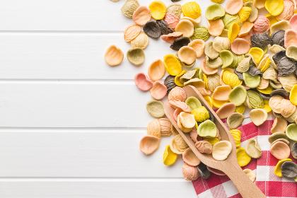 Italian rainbow pasta.