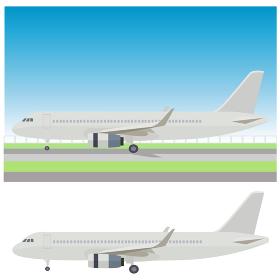イラスト素材 飛行機 ジェット機 航空機 アイコン ベクター