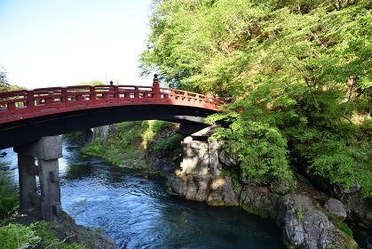 神橋、日光、栃木県、新緑の季節