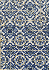 picturesque blue tiles of azulejo in the city of porto
