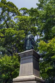国宝彦根城金亀児童公園 井伊大老銅像