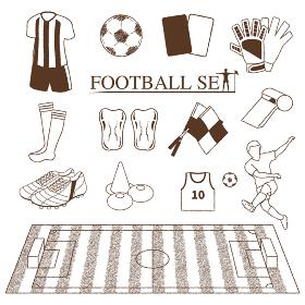 サッカー線画セット