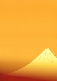 金色に輝く富士山のイラスト 2 縦位置