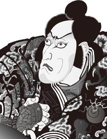浮世絵 歌舞伎役者 その57 白黒