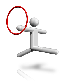 Gymnastics Rhythmic 3D symbol